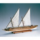 Amati ARROW CANONIERA AMERICANA 1814 Scale Model Boat (470 mm)